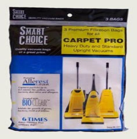 Carpet Pro 06 153 Fb06153 Upright Vacuum Bags Cpp 3