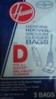 Hoover Vacuum Cleaner Bag Style D 4010005